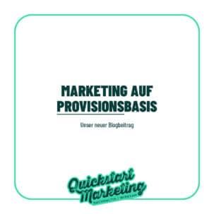 Marketing auf Provisionsbasis