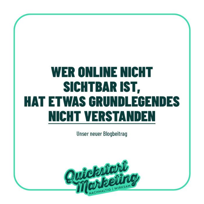 Online nicht sichtbar