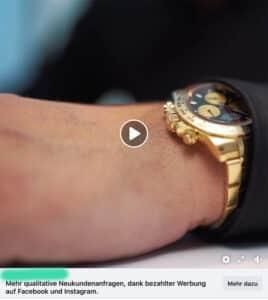 Online Marketing braucht keine Rolex
