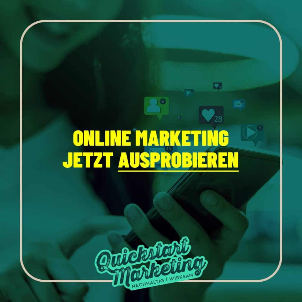 Online Marketing ausprobieren