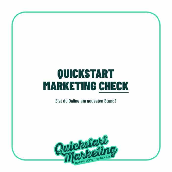 Quick Marketing Check